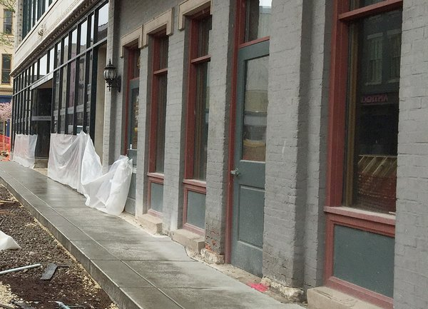 New sidewalks on the south side of Main Street between 4th and 5th.