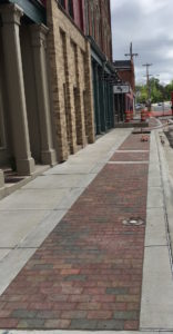 Completed sidewalks in the Upper Main section