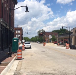 Light Poles Installed on 5th Street