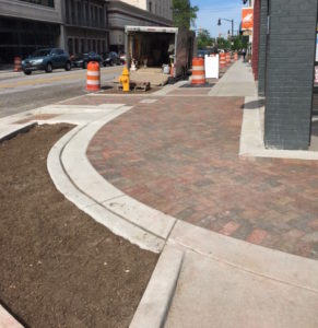 New Brick Design on Corner of Main & 5th Street