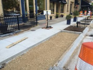 Sidewalk and paver install