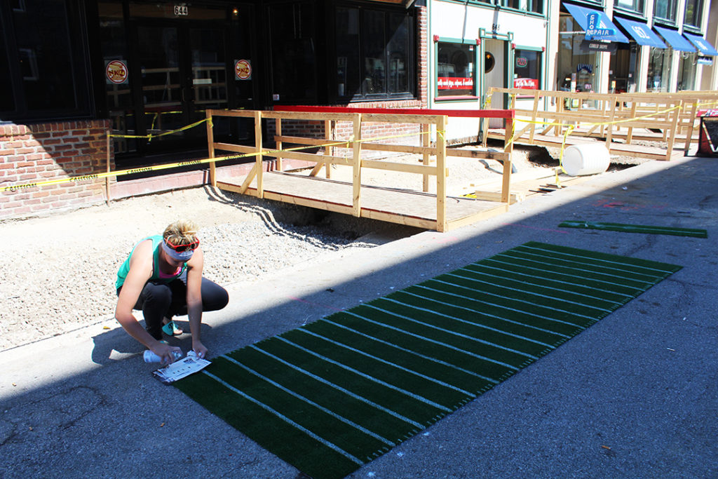 D.T. Kirby's is preparing a football inspired entry---complete with turf!